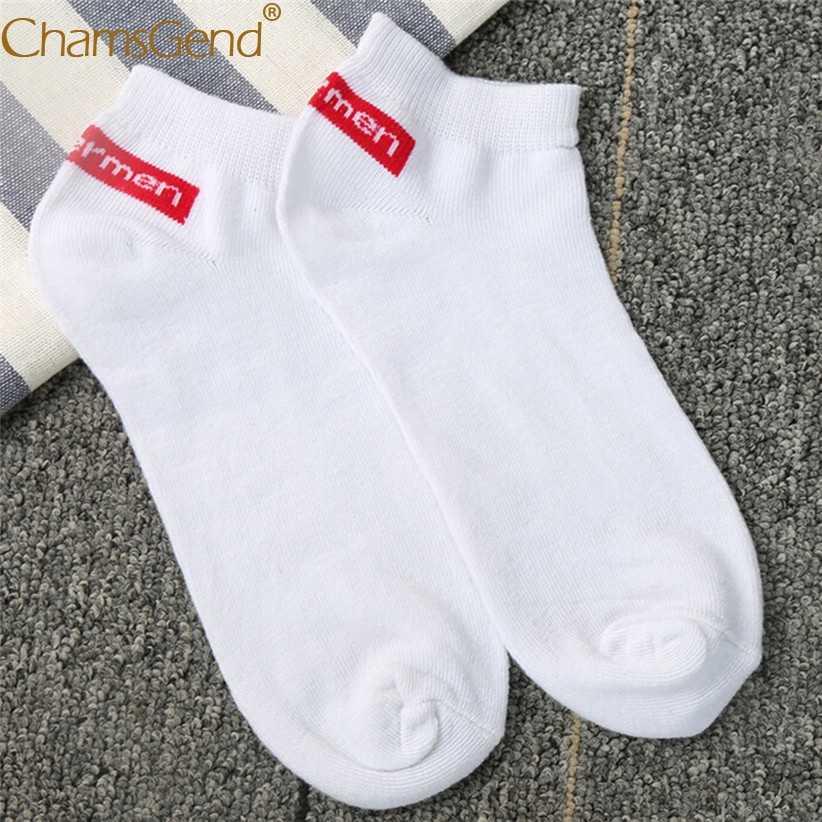 Camsgend горячие унисекс для женщин и мужчин удобные с буквенным принтом Короткие носки из хлопка 80125