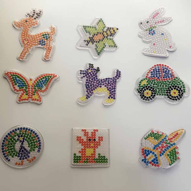 puzzle or 5mm hama perler beads pegboards patterns with colored paper f diy kids craft plastic stencil child fuse bead toys - Free Kids Stencils