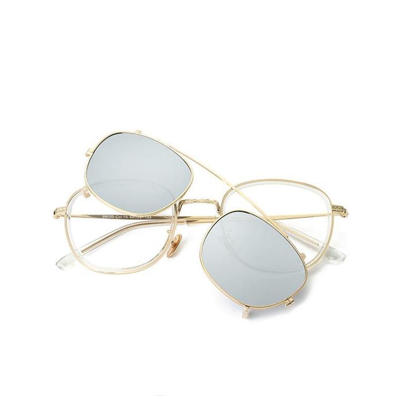 Mode Brillen Frame Magnetische Clip Op Glazen 2 In 1 Vrouwen Mannen