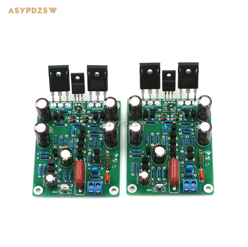 2 PCS L7 MOS FET CLASS AB Audio power amplifier Finished board IRFP240 IRFP9240 (2 channel) free shipping 1000pcs n channel fet si2300 2300 3 6a 30v sot23 mos tube