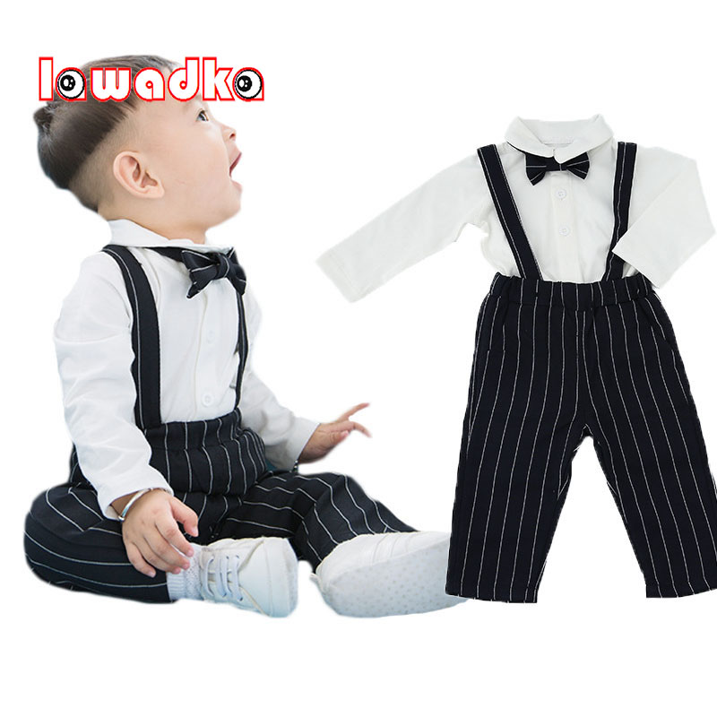 Lawadka 3PCS Newborn Baby Clothes Set Baby Boys Outfits T-shirt Tops +Tie+ Long Pants Party Baby Boy Clothing Sets newborn toddler girls summer t shirt skirt clothing set kids baby girl denim tops shirt tutu skirts party 3pcs outfits set