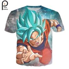 2018 summer new Fashion Men Women Cool T-shirt Dragon Ball Z Super Saiyan 3D t shirt Starry sky Goku Printed Harajuku Tee Shirt