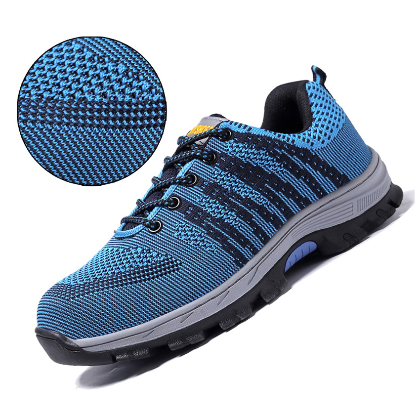 Men's Shoes Air Mesh Working Shoes Men Safety Shoes Steel Toe Cap For Men Puncture Proof Durable Breathable Protective Footwear Work Shoes Consumers First