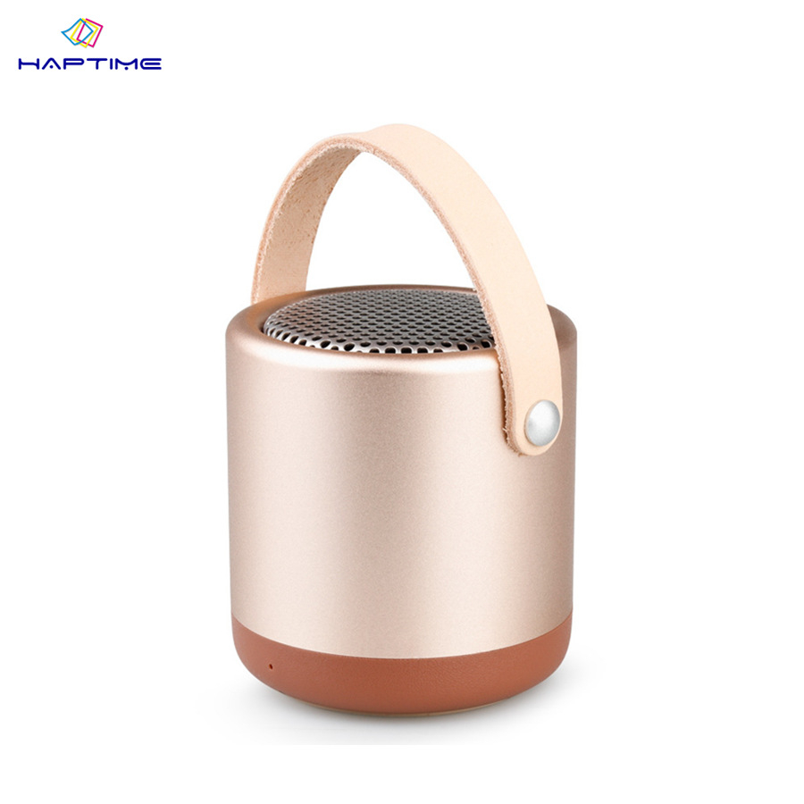 Haptime Wireless Bluetooth Speaker Portable Mini Outdoor Speaker Three Color HIFI Sound Effect Subwoofer Support TF Card