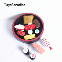 Baby Toys Japan Simulation Sushi Lunch Box Wooden Toys For Kids Food Toys Set Kitchen Toy For Children Educational Gift