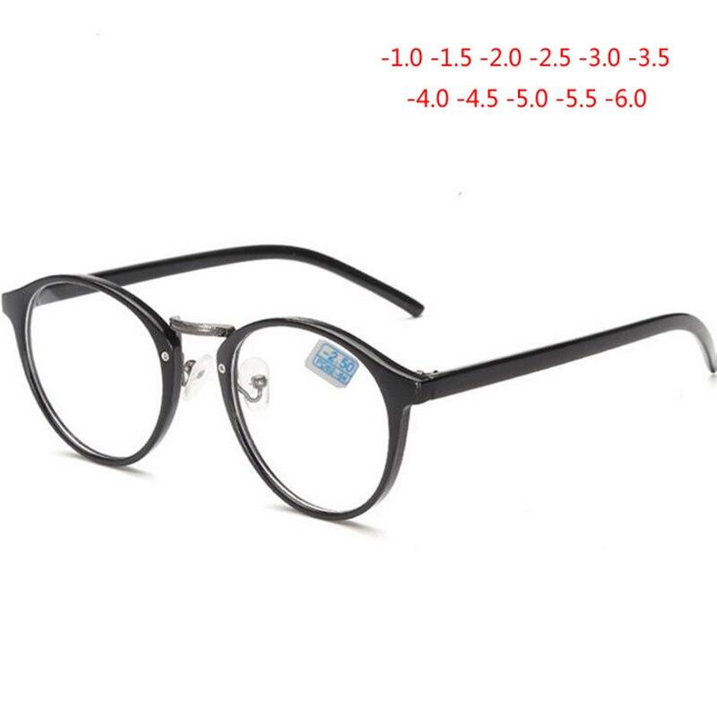 -1,0-1,5 Zu-6,0 Oval Fertig Myopie Gläser Frauen Männer Mode Harz Objektiv Kurzsichtig Brillen Dioptrien Gläser Schmerzen Haben