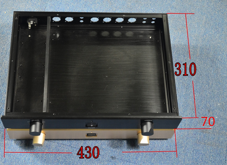 PASS 1 7 Full aluminum amplifier chassis Preamp Pre-chassis AMP Enclosure  case DIY box (430*70*310mm)