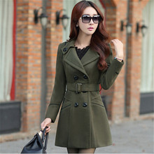 Women's Clothing New Winter Jacket Women Fashion Slim Woolen Coat  Long Parkas Wool Coat Feminina Plus Size Winter Coat C1265