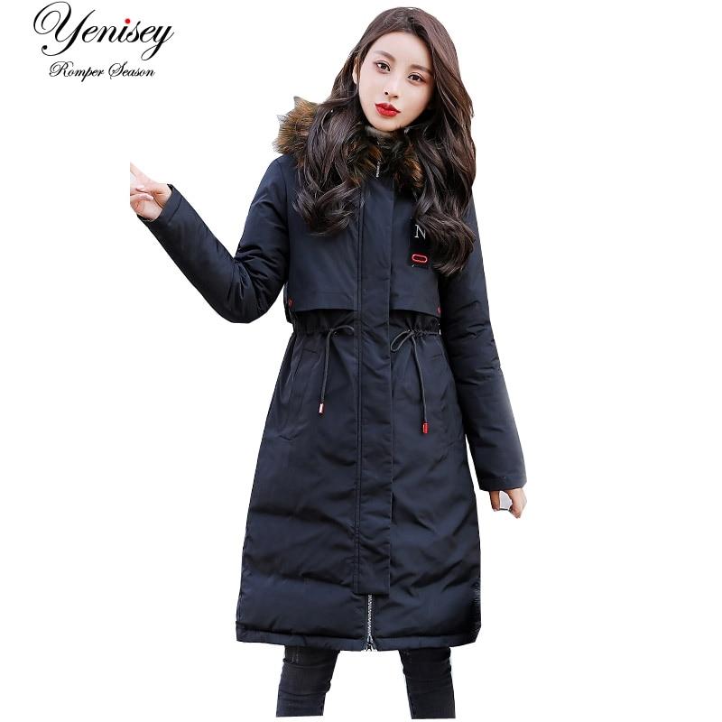 2019 Full Long Down Jacket Woman Heavy Hair Winter Jacket Coat Winter Jacket Women Coat Down   Parka   Women 925