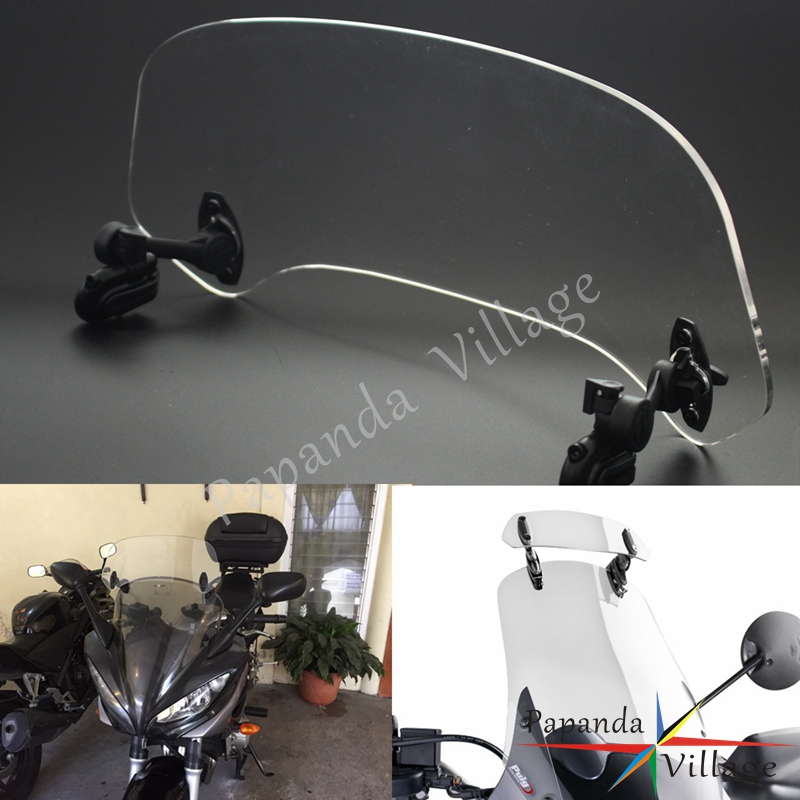 Motocycle Adjustable Windscreen Windshield Spoiler Air Deflector Extension for KTM Ducati Kawasaki Yamaha Honda BMW F800 R1200GS