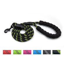 New Strong Dog Leash with Comfortable Padded Handle and Highly Reflective Threads for Medium and Large Dogs z0513#G30(China)