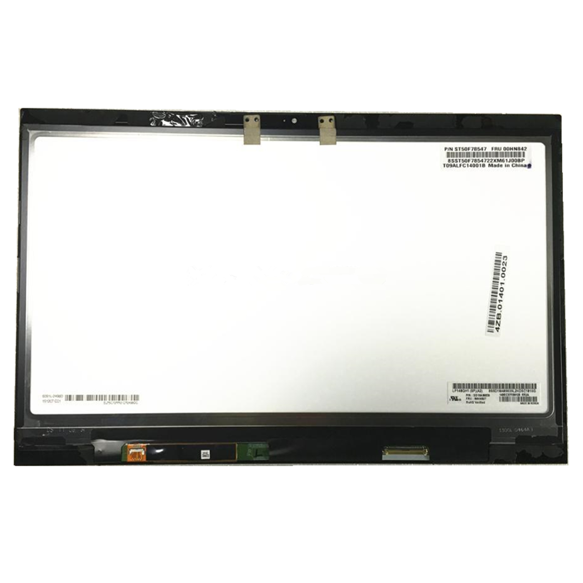 Free shipping LP140QH1 SPA2 LCD Display Touch Screen Assembly with Touch For Lenovo Thinkpad X1 Carbon 00HN827 2560*1440