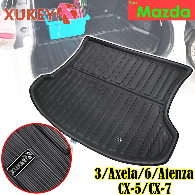 XUKEY Cargo Boot Liner Tray For Mazda 3 Axela 6 Atenza Sedan Hatchback CX 5 CX5 CX 7 CX7 CX 5 Tailored Rear Trunk Mat Protector