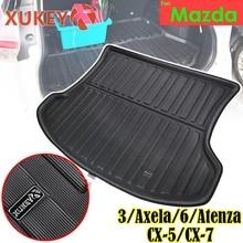 XUKEY Cargo Boot Liner Tray For Mazda 3 Axela 6 Atenza Sedan Hatchback CX 5 CX5 CX 7 CX7 CX 5 Tailored Rear Trunk Mat Protector