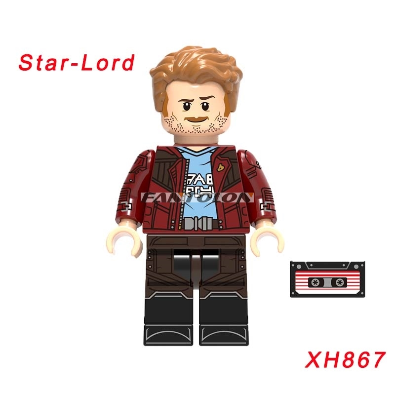 Star-Lord Guardians Of The Galaxy Super Heroes Iron Man Wasp Thanos Ant-Man Ebony Maw Building Block Toys For Children Xh867