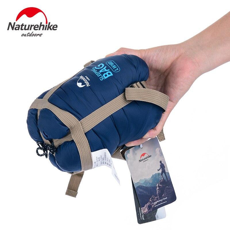 NatureHike autumn spring Outdoor Envelope Sleeping Bag Mini Ultralight Travel Bag Hiking Camping bag 205cm x