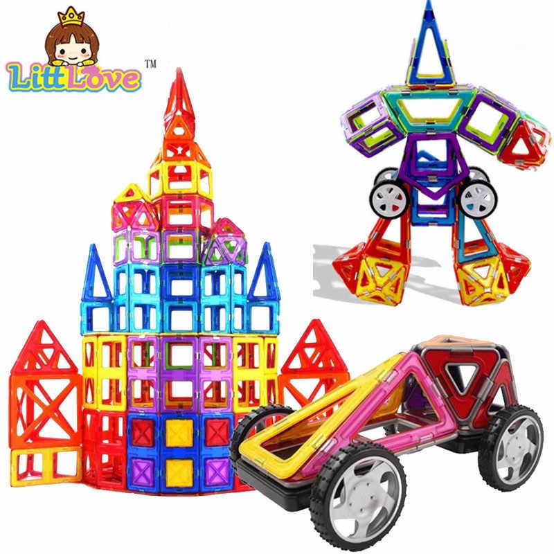 65 Pcs Ukuran Mini DIY Magnetic Blok Magnetik Konstruktor Anak-anak Magnet Desainer untuk Anak-anak Hadiah Mainan Pendidikan untuk Anak Laki-laki Anak Perempuan