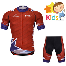 Pro Team Summer Cycling Jersey Set for Kids Ropa Ciclismo Clothing Children Breathable Outdoor MTB Bike Suit