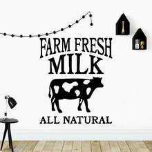 Beauty Fresh Milk Cow Removable Wall Stickers For Kitchen Room Vinyl Mural Decal Farm Creative Sticker ngk farm stickers