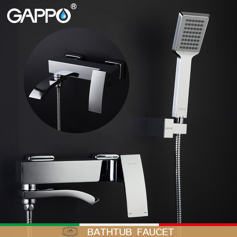 GAPPO shower faucet bathroom Brass Faucets mixer waterfall bathtub Tap bathtub wall mounted shower mixer faucets