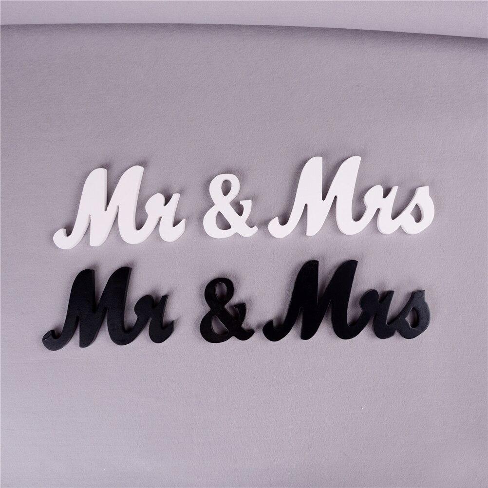1 компл. деревянный Mr & Mrs Свадебные буквы для Свадебные Украшения знак столешницы подарок декор событие для вечеринок черный, белый цвет дом...