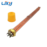 Copper 1 5 DN40 Water Heating Element 500mm Lengthening Copper Tube With A Fixed Plate Heater