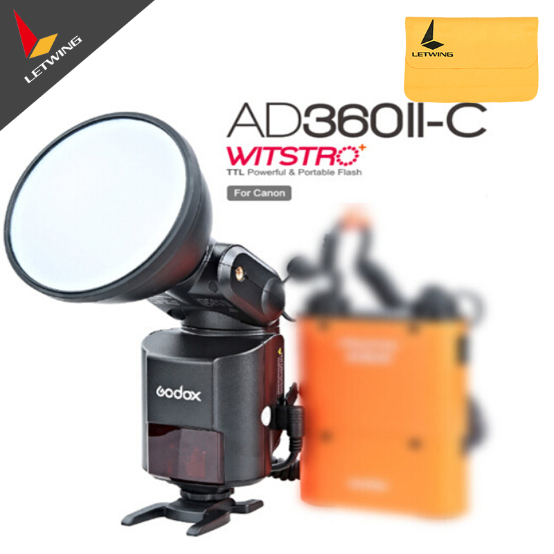 Free DHL!Newest Godox AD-360 MARK II  AD360II-C E-TTL Bare Tube Camera Outdoor Flash Without PB960 Battery godox ad360 camera outdoor shooting flash kit ad 360 360w flash ft 16 wireless trigger ad s17 diffuser 60 60cm softbox