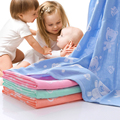 Baby Bath Towel Newborn Textile Cotton Soft Swaddling Towel Cartoon Animal Pattern Baby Bath Blanket 110X110cm