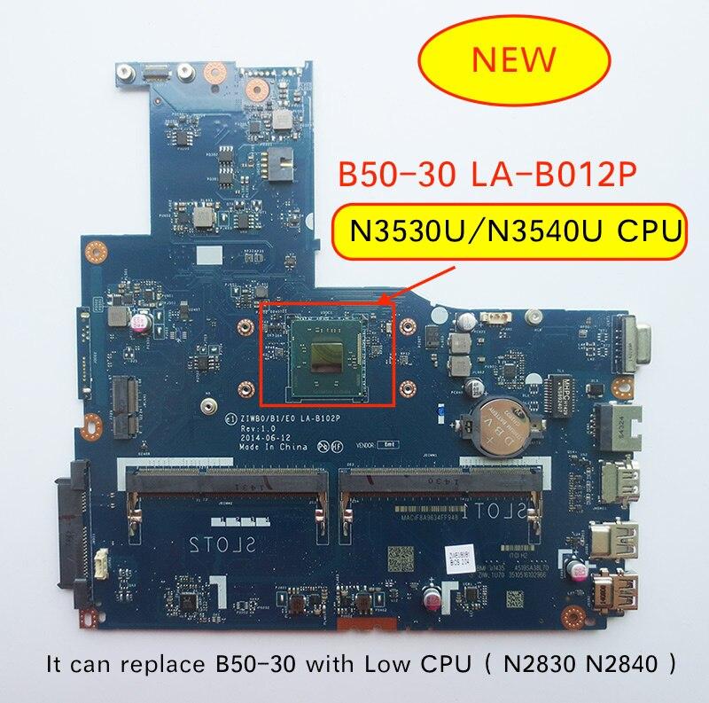 Frete grátis novo LA-B102P B50-30 placa-mãe para lenovo B50-30 portátil com intel n3540 n3530 cpu