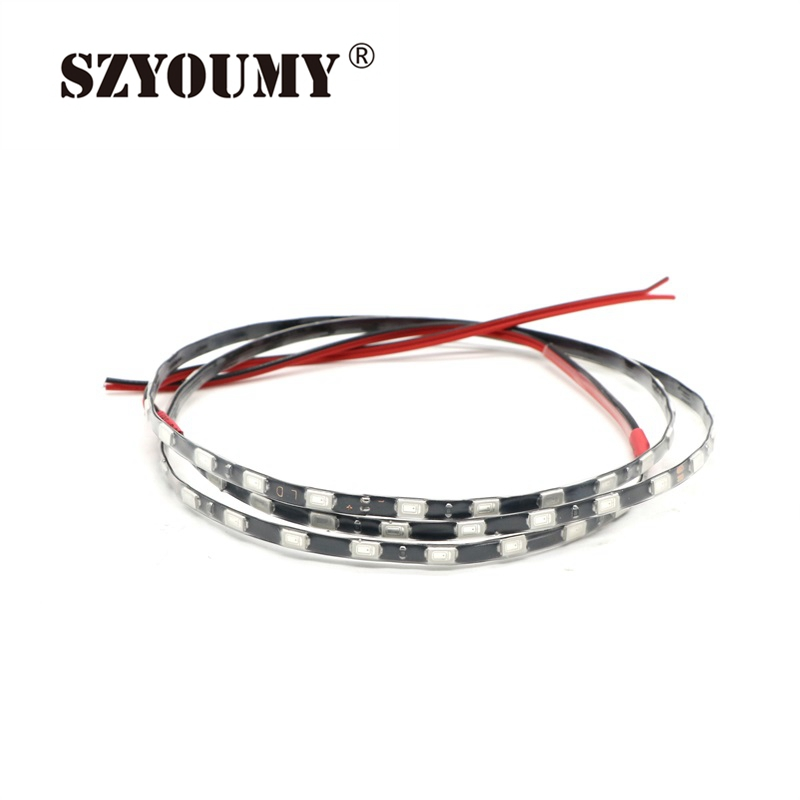 Led Strips Diligent Szyoumy Smd 5730 Led Flexible Strip Tape 60leds/pcs Narrow Pcb 5mm Width Waterproof Black And White Pcb 90cm/pcs Led Lighting