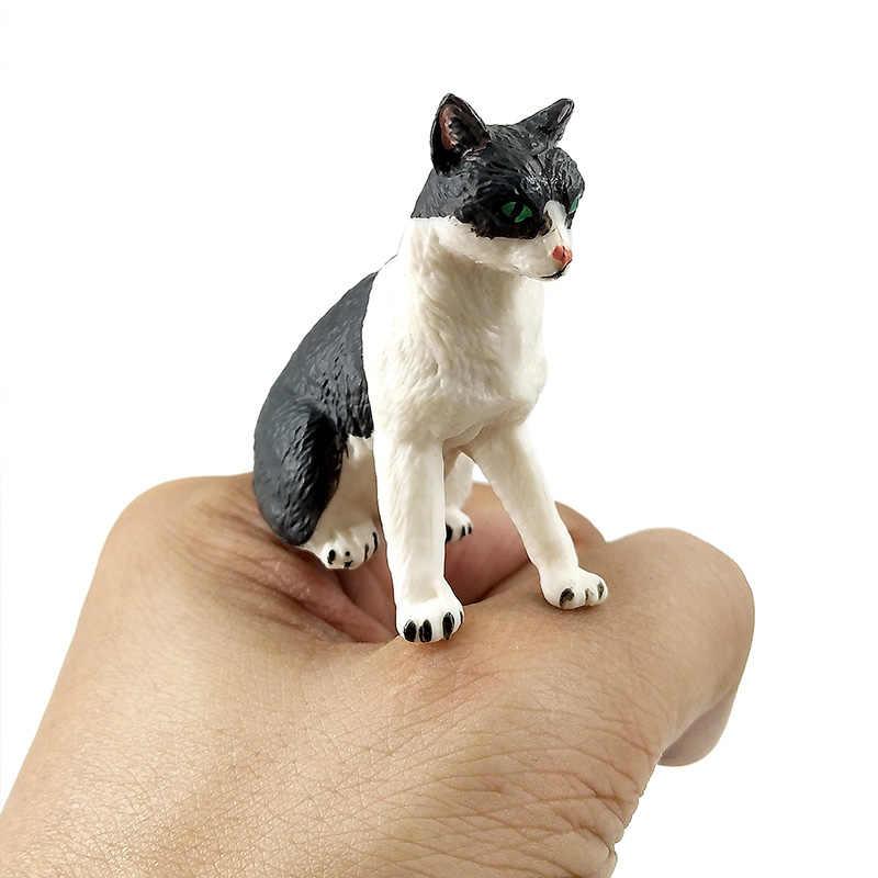 Mini Simulação gato de fadas em miniatura estatueta Modelo animal Ornamento acessórios de Decoração decoração de Casa Jardim Bonsai estátua figura