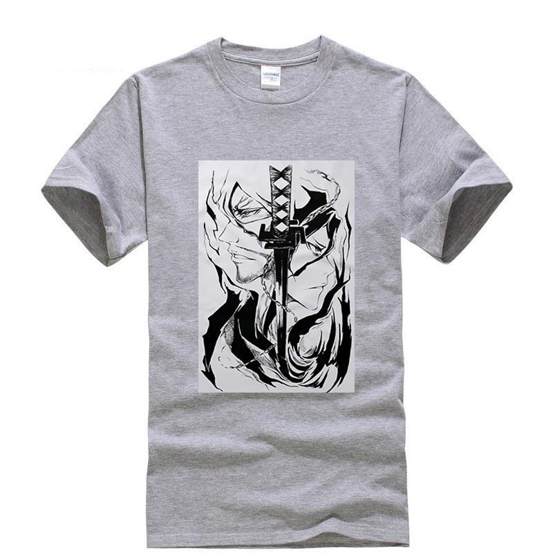 2019 new T shirt Round neck Kurosaki Ichigo bleach Cool Japan Anime Cartoon Summer dress men tee Funny t shirt custom made in T Shirts from Men 39 s Clothing