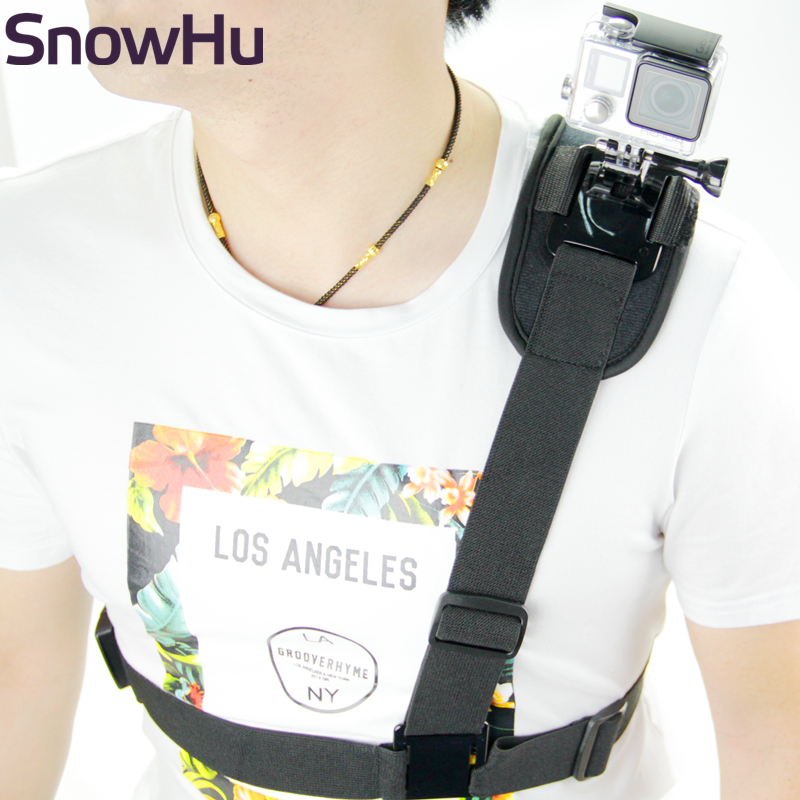 SnowHu For Gopro Accessories Shoulder Strap Mount Chest Harness Tripod For Go Pro Hero8 7 6 5 4 Xiaomi Yi Sj Action Camera GP199