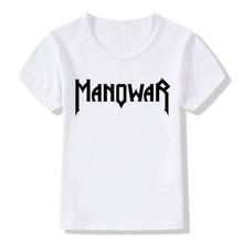 Kids Girls Boys New Manowar Rock Band T-shirt