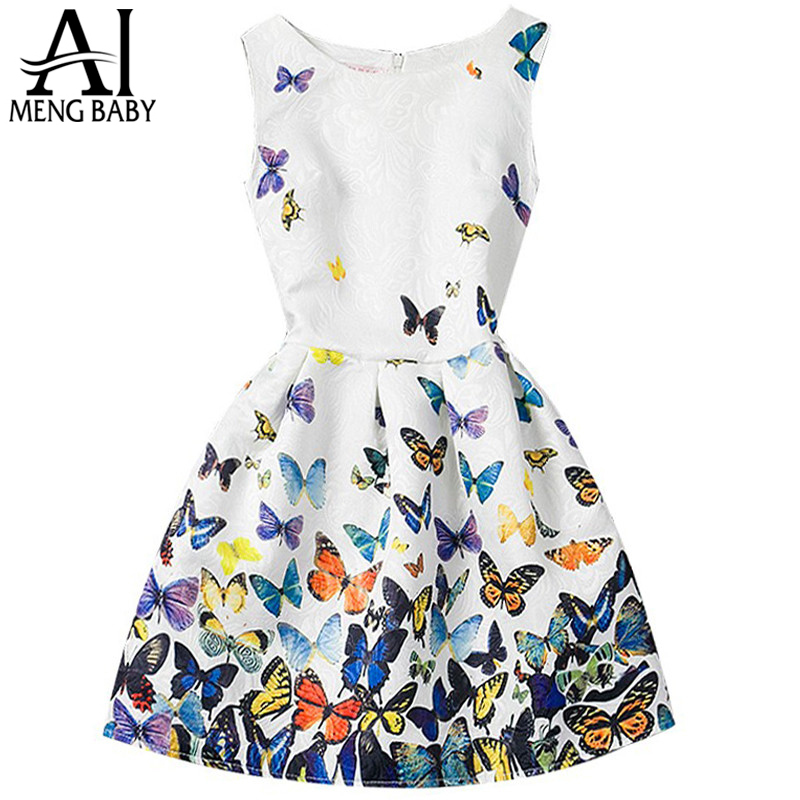 Fashion Girls Summer Dress 2017 Teenagers Girls Party -9203