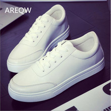 2017 The new autumn and winter white shoes men 's casual boots white lace Korean students tide shoes