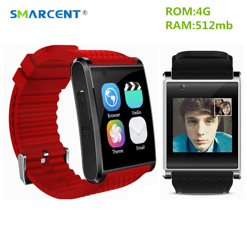 SMARCENT X11 Android5.1 Smartwatch 4GB ROM with 2.0M Camera Smart Watch Support 3G WIFI GPS MTK6580 Smart Band Health Tracker android 5 1 smartwatch x11 smart watch mtk6580 with pedometer camera 5 0m 3g wifi gps wifi positioning sos card movement watch