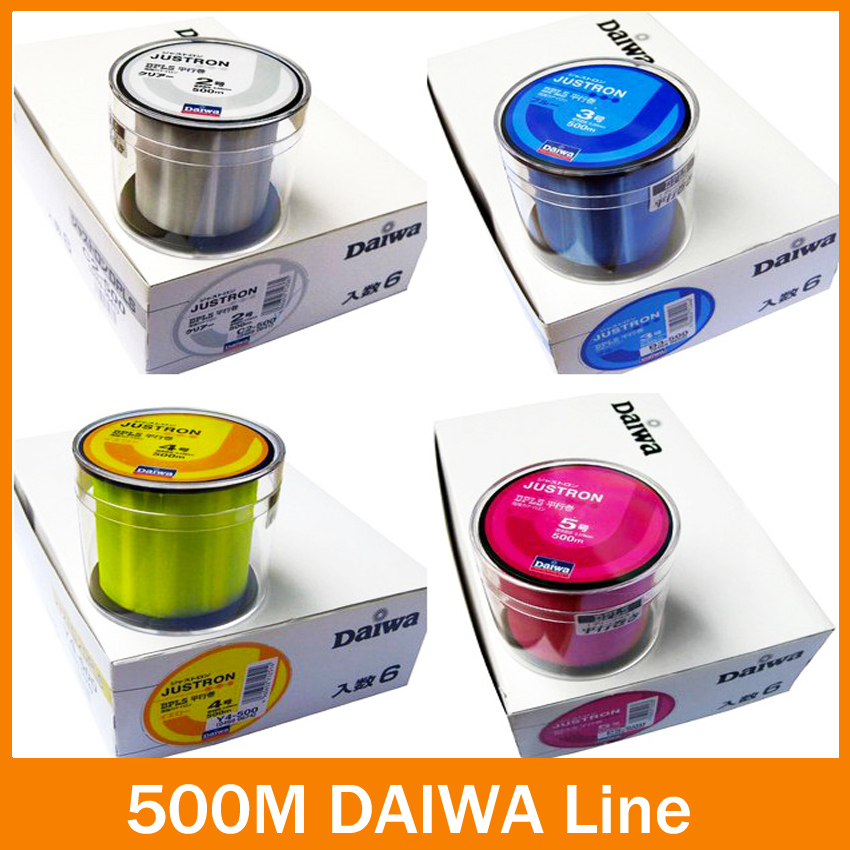 Nylon fiske linje Transparent / Gul / Rød / Blå 500m super High Strong Monofilament Fishing Line for karpe fiske