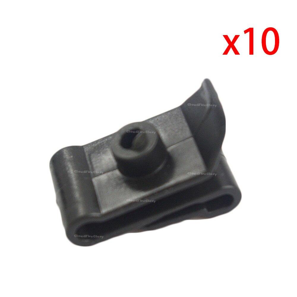 10 Pcs Bumper Fender Nylon Clip U Nut #12 Screw Retainer For Toyota Lexus
