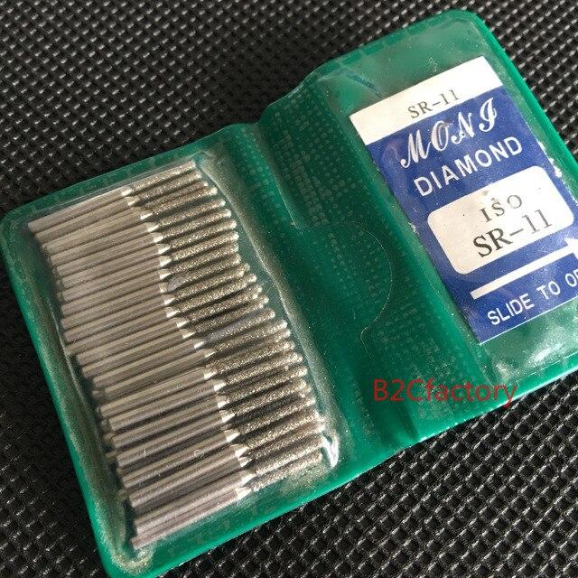 50 unids/pack pulidor Dental de diamantes FG burs para pulir dientes de alta velocidad SR11 SR12 SR13