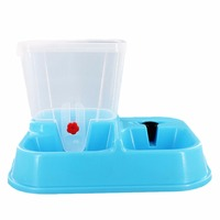 2 Colors Cute Pet Dog Food Bowl Pets Water Dispenser Large Automatic Pet Drinking Water Feeder