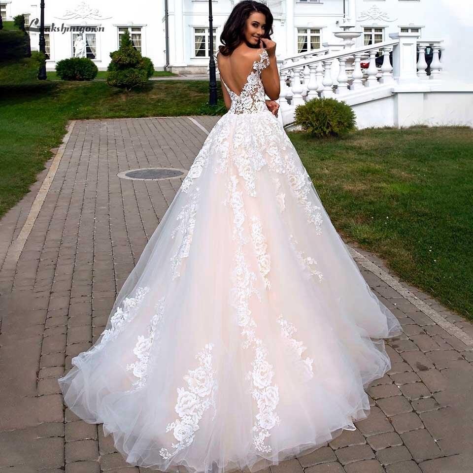 Lakshmigown Blush Pink Princess Wedding Dress 2019 Vintage Lace Bridal Gown Off The Shoulder Sexy Wedding Dress Vestido Novia