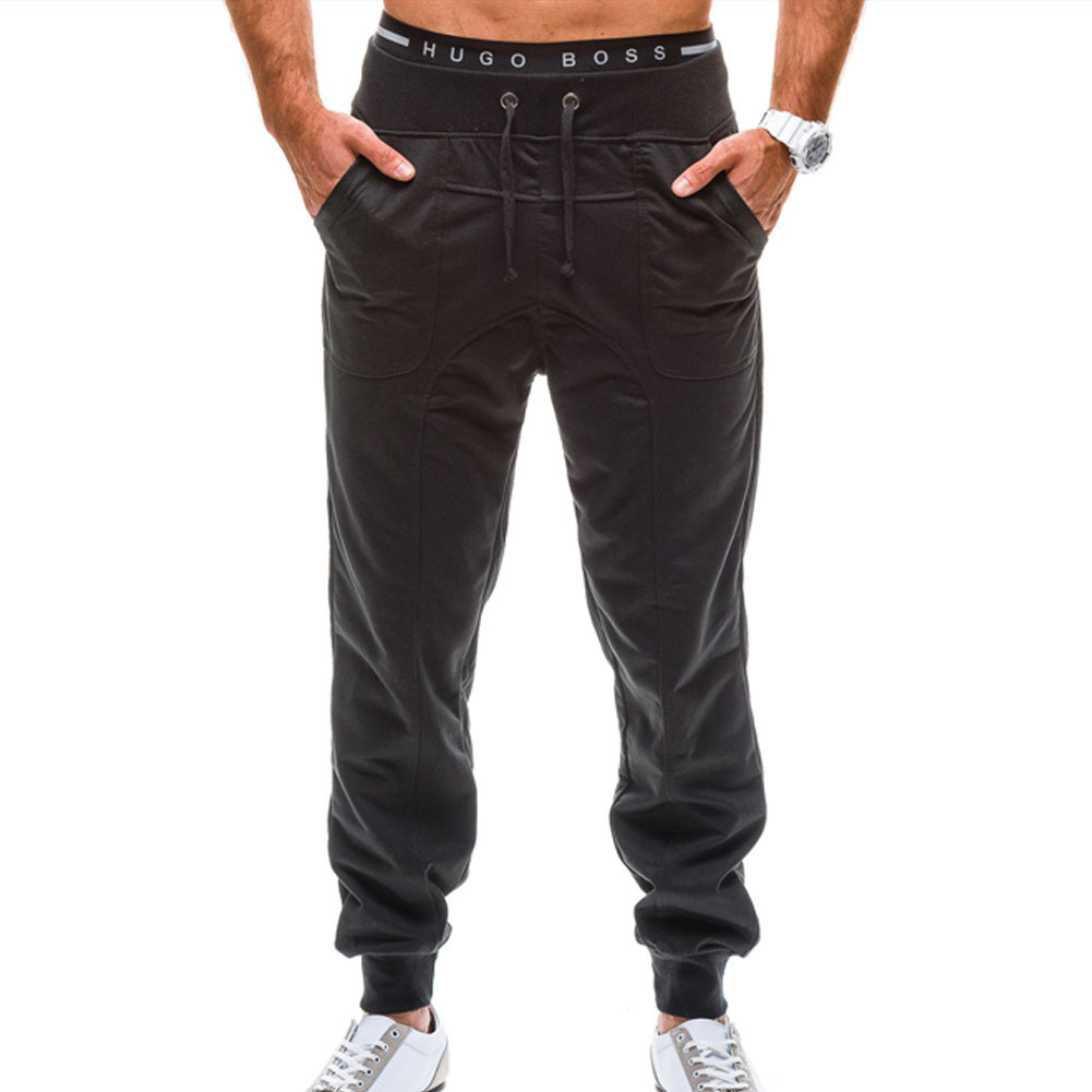 2018 spring and summer new Korean version of the pants mens loose lace sweat pants
