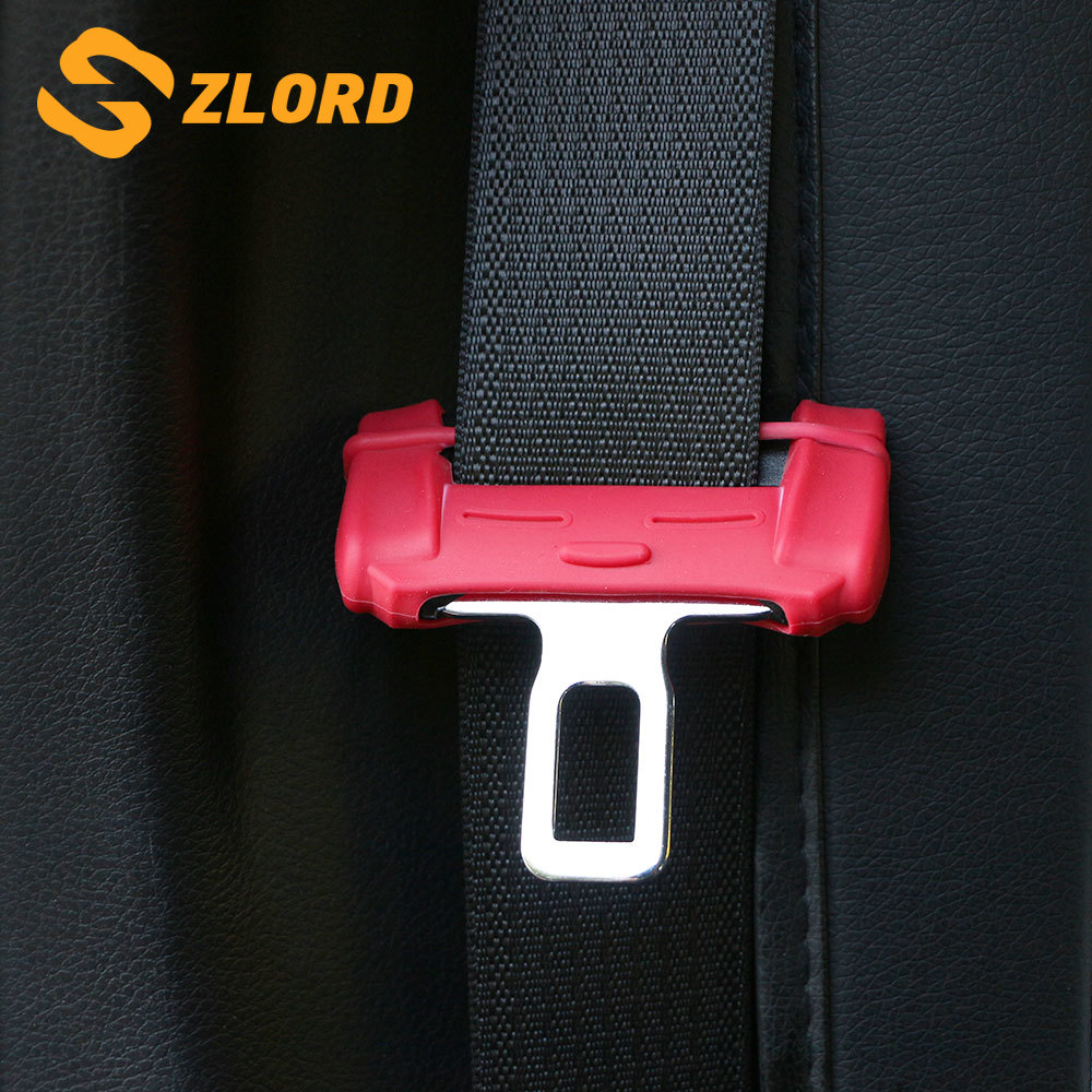 Zlord Car Safety Seat Belt Buckle Clip Protection Trim Cover for Suzuki Swift Grand Vitara SX4 S-Cross Vitara Jimny Parts