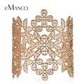 Цинковый сплав золотой ажурные цветы женщин открытие манжеты браслеты eManco 2016 новое акции мода шарм ювелирных изделий BL06105
