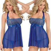 New Sexy Sleep Dress Women Sleeping Dress and String Set Nightgown Night Gown Deep V Sleepwear Lingerie M XL XXL XXXL 5XL