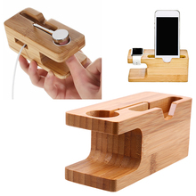 Mobile Phone Charger Holder Wooden Stand Charging Dock Station Bracket Cradle For Watch Cellphone Home Storage Support Tablette