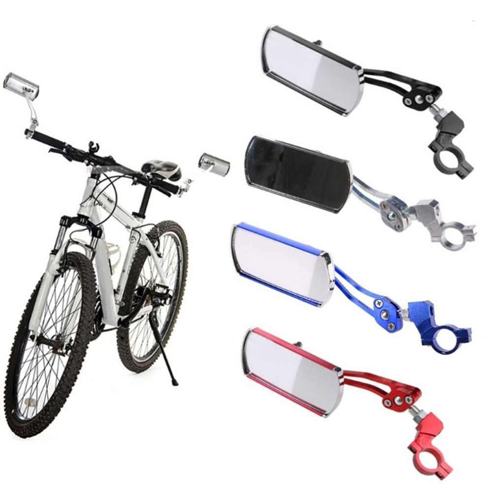 Jazda na rowerze rower widok z tyłu lusterko na kierownicę elastyczne bezpieczeństwo widok z tyłu