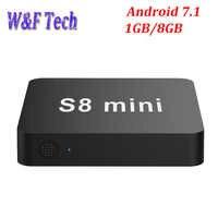 S8 MINI Allwinner H3 Quad Core 1GB DDR3 8GB EMMC Smart Android TV BOX 2.4G WIFI 4K*2K Android 7.1 Media Player