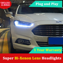 Car Head Lamp For Ford Mondeo Headlights   For Ford Fusion Headlight Drl Xenon